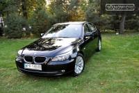 Czarne BMW e60 po pełnej korekcie i aplikacji Wolf's Chemicals Body Wrap, zabezpieczone na zimę